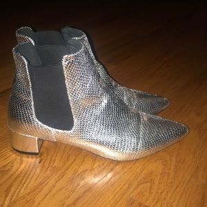 Silver booties from top shop